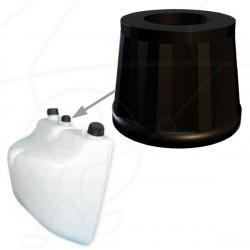 Miniplane fuel outlet cap