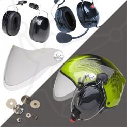 Pack helmet Solar X + headset ECO carbon + visor