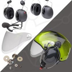 Pack helmet Solar X + headset 3M + visor