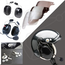 Pack helmet Skyrider TZ + headset Eco Modul + visor