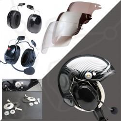 Pack casque Skyrider TZ + headset Eco Modul + visière