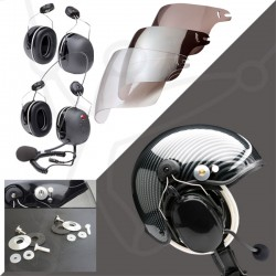 Pack helmet Skyrider TZ + headset 3M-X5 + visor