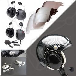 Pack casque Skyrider TZ + headset 3M-X5 + visière