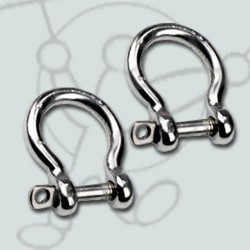 Pack Stainless steel shackle flex bar