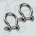 Pack Stainless steel shackle flex bar