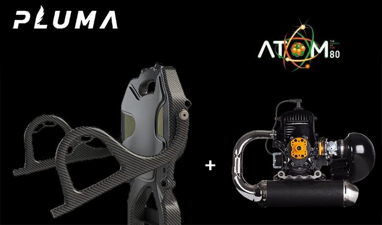 LEICHTER und MEHR LEISTUNG ! Seit 2018 ist die mit dem ATOM 80-Motor (Marke Vittorazi) verbundene Marke PLUMA (Marke Adventure) der leichteste Motor auf dem Markt...