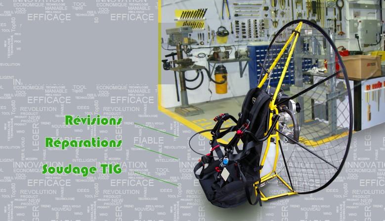 Nous vous proposons un service de révision, un atelier de réparation avec soudage TIG pour les plus gros bobos